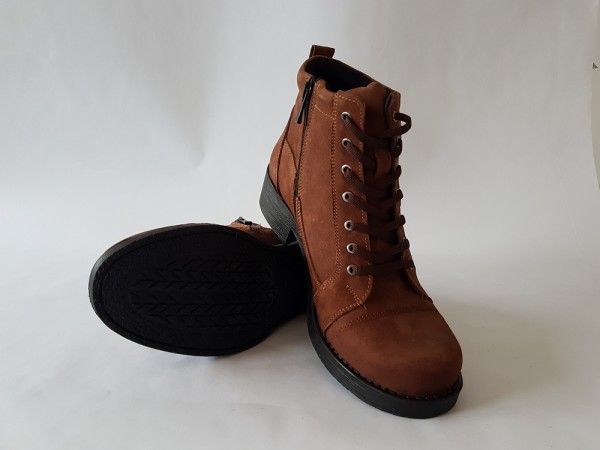 Vennex Textilland Damen Ankle Boots braun
