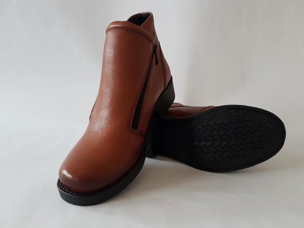 Vennex Textilland Damen Ankle Boots hellbraun