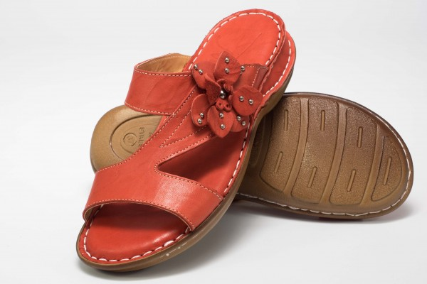 "Damen Slipper ""Kremna"" - Rot"