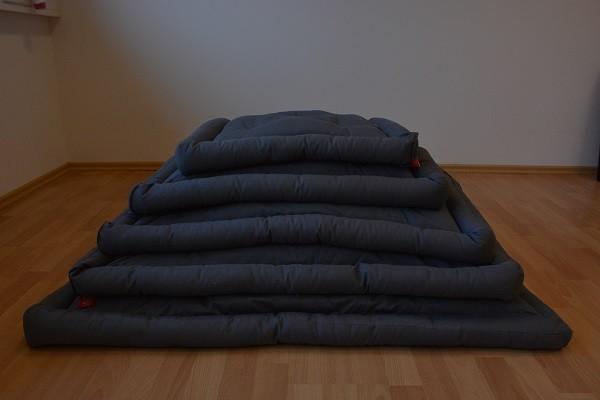 Robustes Hundekissen Gr. XL - 85 x 100 cm - Grau - 5 Größen