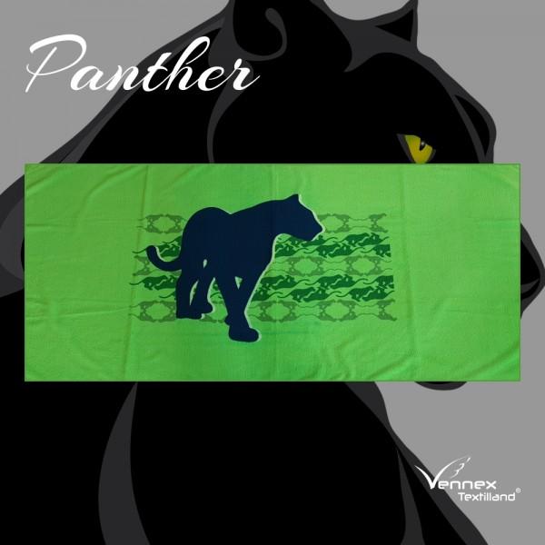 """Strandtuch/ Badetuch """"Panther"""" - 75 x 160 cm - Grün/ Schwarz"""