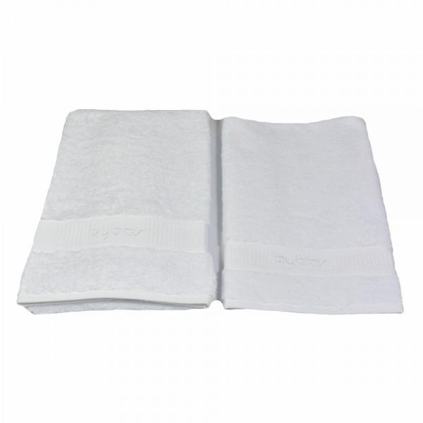 BYBLOS 2-tlg. Handtuch Set , 1 Handtuch 40 x 60 cm / 1 Handtuch 60 x 110 cm in Weiß