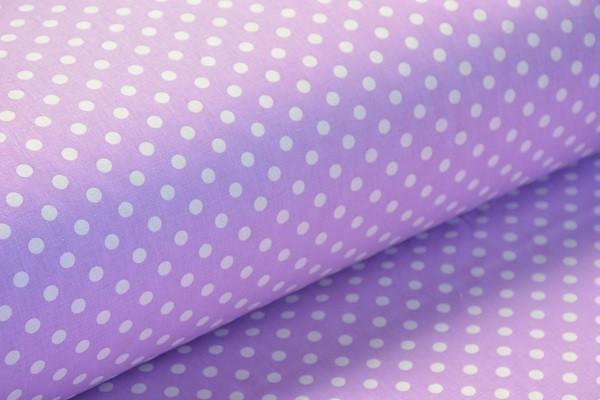 Baumwolle Dekostoff - Punkte - Flieder - 240 cm breit - 12,95 € / 1 Meter