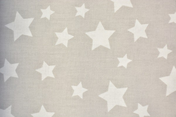 Baumwolle Dekostoff - Sterne - Grau - 240 cm breit - 8,95 € / 1 Meter