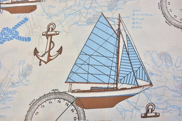 Baumwolle Dekostoff - Marine Club - Mehrfarbig - 240 cm breit - 12,95 € / 1 Meter