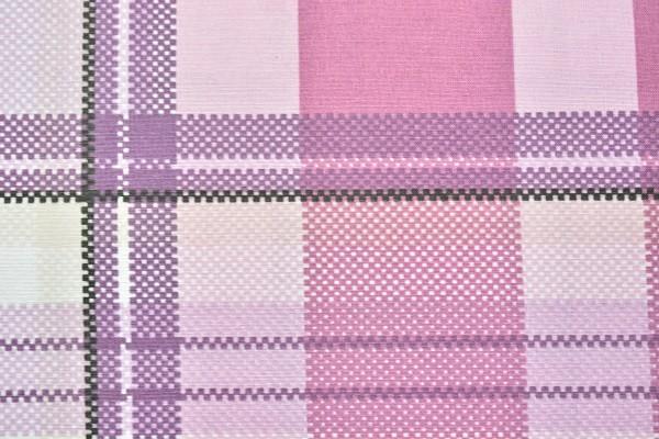 Baumwolle Dekostoff - Karo - Pink-Fuchsia - 240 cm breit - 8,95 € / 1 Meter