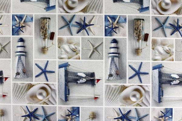 Baumwolle Dekostoff - Maritim Attribute