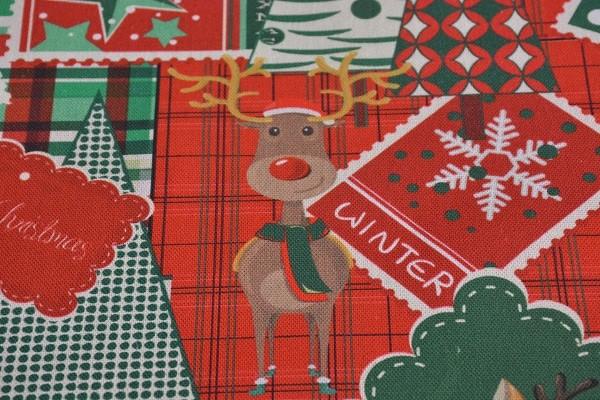 Weihnachtsstoff Patchwork